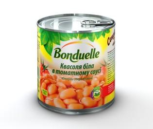Новый Квасоля бiла в томатному соусi Bonduelle, жб, 425 мл A