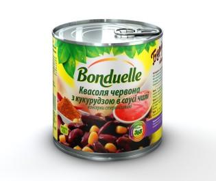 Новый Квасоля червона з кукурудзою в соусi Чiлi Bonduelle, жб, 425 мл A