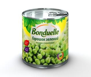Новый Зелений горошок Bonduelle, жб, 400 г