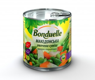 3083680002929 Овочева сумiшсалат МакедонськаBonduelle, жб, 400 г