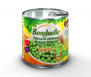 3083680004572 Зелений горошок екстра-ніжний Bonduelle, жб, 400 г A