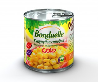 3083680025881 Кукурудза солодка (GOLD) Bonduelle, жб, 340 г A