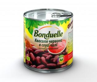 3083680090742 Квасоля червона в пiкантному соусi Чiлi Bonduelle, жб, 425 мл A